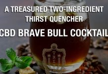 A valued two-ingredient thirst quencher - CBD Brave Bull Cocktail