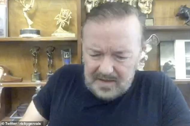 'Get me a bloody ambulance!'  Ricky Gervais has revealed he was in agony after pinching his back while tying his shoelaces