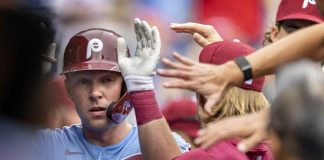 Phillies Notebook: Bryce Harper's Back Pain Is Phillies' Win when Brad Miller replaces the Nationals |  Sports