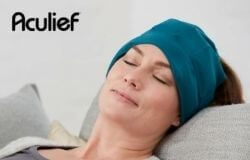 This Aculief Portable Cooling Cap is a groundbreaking way to provide headache and migraine relief