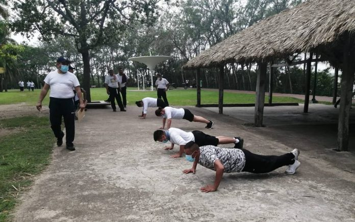 They use state officials for exercise