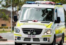QAS Ambulance responding