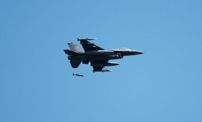 Fighter jets with Northern Lightning exercise drop JDAM munitions for first time at Fort McCoy's impact area