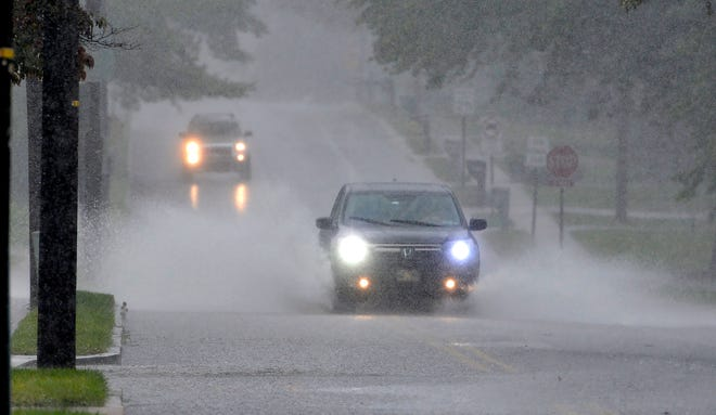 Heavy rainfall causes flooding and traffic problems in Springettsbury Township, Thursday Sept. 10, 2020. John A. Pavoncello photo