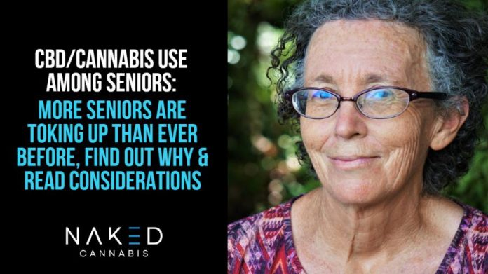 The use of medical cannabis among seniors is increasing and stigma is decreasing