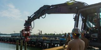 """Stars and Stripes - """"It's a matter of being agile"""": Repairing a pier, setting up a gas station as part of the Navy's global exercise"""