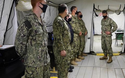 Conducted the Navy's large-scale exercise 2021 from a tent in Little Creek