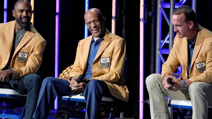Peyton Manning hits the headlines at the induction ceremony for the Pro Football Hall of Fame Class of '21