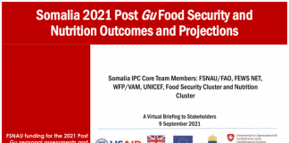 Somalia 2021 Post Gu Food Security and Nutrition Results and Forecast - Somalia
