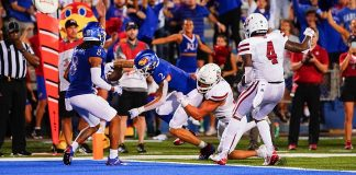 With an injury behind him, Lawrence Arnold's breakout game propels KU Football to Week 1 victory