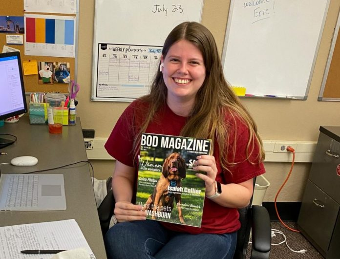 Leah+Jamison+works+at+Student+Media+as+the+Bod+Magazine+Editor+in+Chief.+Her+most+recent+issue+is+available+for+free+on+newsstands+across+campus.