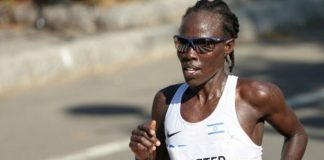 Israel's Lonah Chemtai Saltpeter finished fifth in the London Marathon