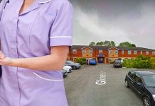 Nurse stamped and injured nursing home resident