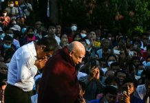 Monk's reappearance brings consolation in coup-ravaged Myanmar