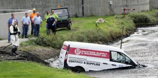 POLICE NEWS: Van driver pulled out of the pond of the water treatment plan    news