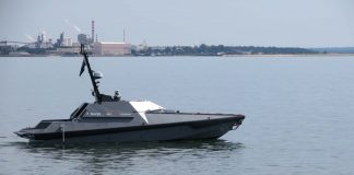 Watch a British robotic boat fire a missile