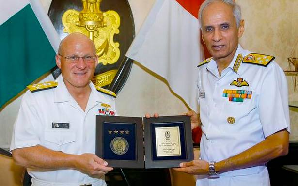 The exercise in Malabar is intended to ensure stability in the region, says the chief of the US Navy