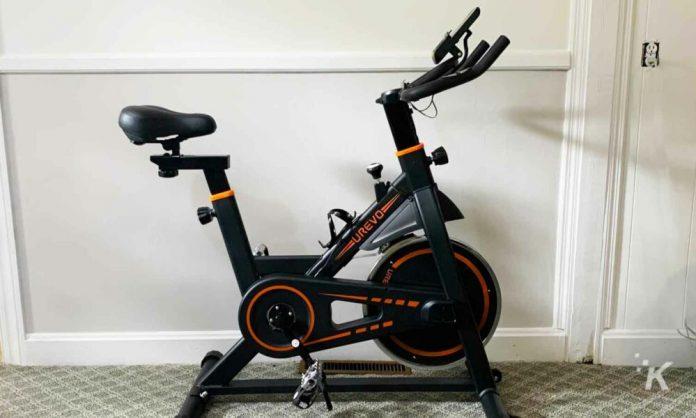 Urevo exercise bike with LCD screen